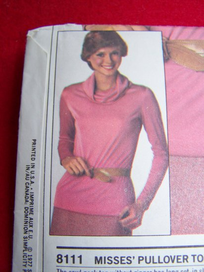 1970s Vintage Sewing Pattern Cowl Neck Pullover Top 12 14 16 Patterns Sale $3 USA $1 S&H