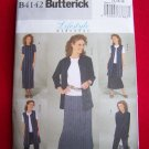 Misses Wardrobe Sewing pattern 4142 Jacket Vest Top Dress Skirt Pants 14 16 18