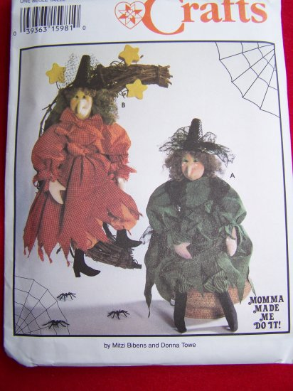 Primitive Halloween Witch Doll and Clothing Sewing Pattern 9193