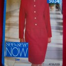 Misses 12 14 16 Unlined Jacket Straight Skirt Sewing Pattern 5034 1 Penny USA Shipping