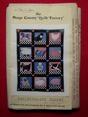 Vintage Virginia Robertson Pattern Osage County Quilt Factory Checkerboard Square Quilting