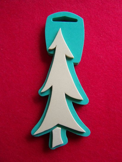 Chunky Stamps Fabric Pine Tree Christmas Craft Stamp