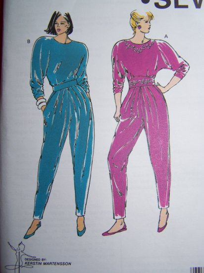 Uncut Kwik Sew Fitted Waist Top Push Up Dolman Sleeves Tapered Pants Sewing Pattern 2006