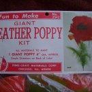 1960s Vintage Mod Giant Feather Poppy Flower Craft Kit Pattern $1 USA Shipping