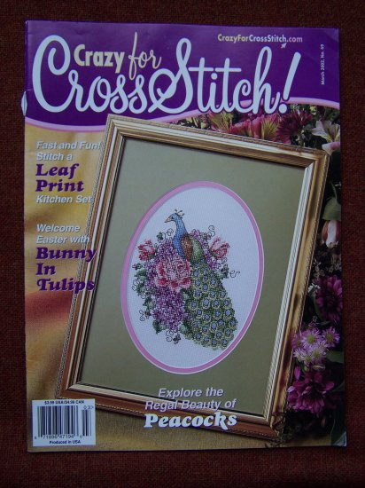 Crazy for Cross Stitch Pattern Magazine March 2002 # 69 Craft Patterns