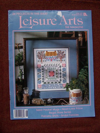Leisure Arts Craft Magazine June 1993 Cross stitch Knitting Crochet Crafts