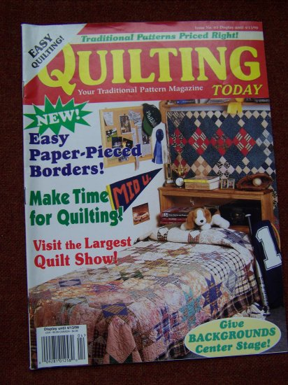 Quilting Today Magazine # 65 1998 Easy Quilt Patterns Pattern