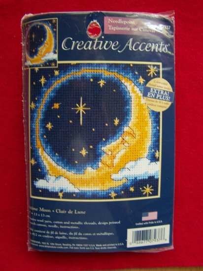 Needlepoint Stitch Kit Nighttime Moon 7937 Celestial Creative Accents 1 Cent USA Shipping