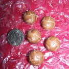 5 Vintage Buttons Brown Woven Style Plastic Shank Back Button Lot 1 Cent USA S&H