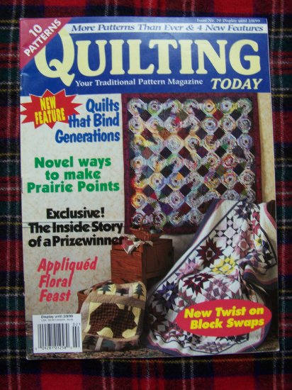 10 Quilt Patterns Quilting Today Magazine # 70 1999 Pattern Quilts