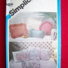 Uncut Vintage Simplicity Sew Pattern Shadow Trapunto Pillow Sewing Patterns 6482