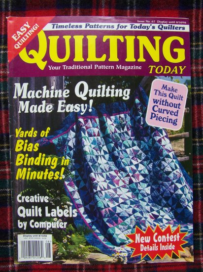 Quilting Today Quilt Patterns Magazine 67 August 1998 Double Star Sawtooth Dresden Pinwheels