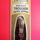"New J & P Coats 9"" Dark Navy Blue Heavy Trouser Pants Metal Zipper"