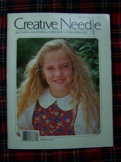 Creative Needle Back Issue Magazine July August 1989 Smocking Patterns Graphs Roses