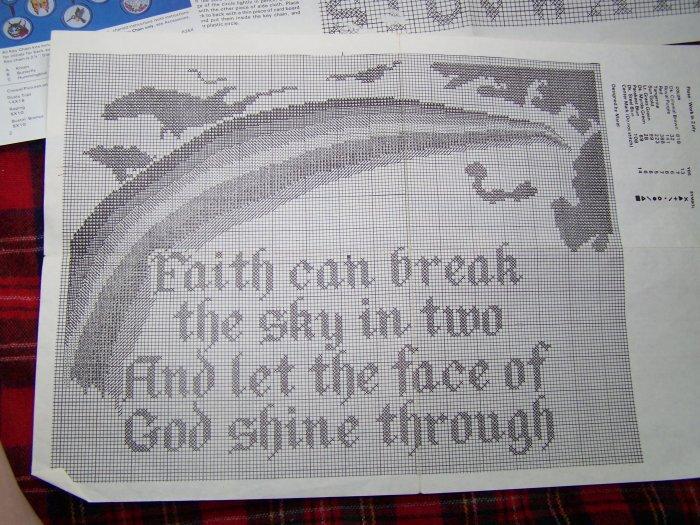 Vintage Artistic Needle Cross Stitch Graph Pattern Faith # 603X 1 Cent USA S&H