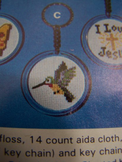 Vintage Artistic Needle Mini Counted Cross Stitch Graph Pattern Hummingbird 1 Cent USA S&H