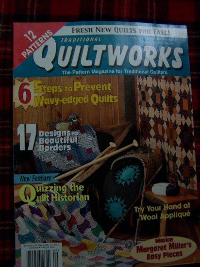 Quiltworks Quilting Pattern Magazine # 75 Sept 2001 Quilt Patterns