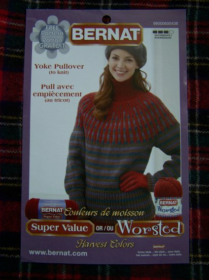 Misses XS/S M L XL Yoke Pullover Sweater Pattern USA 1 Cent S&H