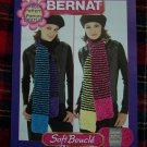 Bernat Knitting Pattern Super Scarf Boucle Yarn 1 Cent USA Shipping