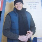 Easy Men's Knitting Pattern Winter Scarf and Hat 1 Cent USA Shipping