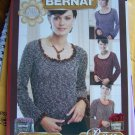 Misses Knitting Pattern Scoop Neck Sweater USA 1 Cent Shipping