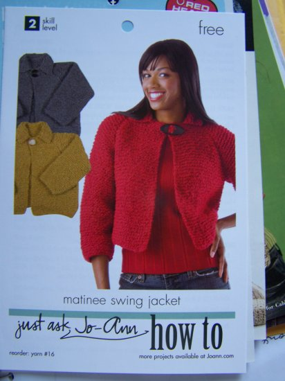 Misses Knitted Matinee Swing Jacket Sweater Knitting Pattern S M L XL XXL 1 Cent S&H 4 USA