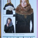 Misses Fun Fur Warmer Hoodie Muffler Neck Wrap Knitting Pattern 1 Cent US SHipping
