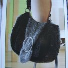 Knitting Pattern Boucle Purse Knitted SHoulder Bag USA 1 Cent S&H