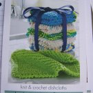 Knit or Crochet Kitchen Dishcloths Pattern USA 1 Cent Shipping Special