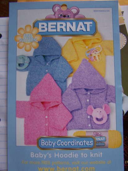 Infant Cardigan Hoodie Sweater Knitting Pattern 6 - 12 18 Months 2 Years Special USA S&H