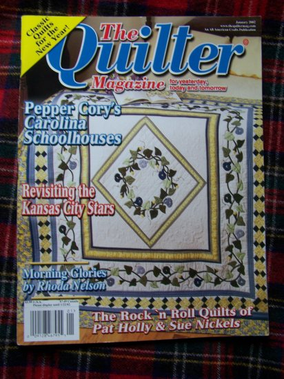 The Quilter Back Issue Magazine Quilt Patterns Jan 2002 Quilting Pattern Book