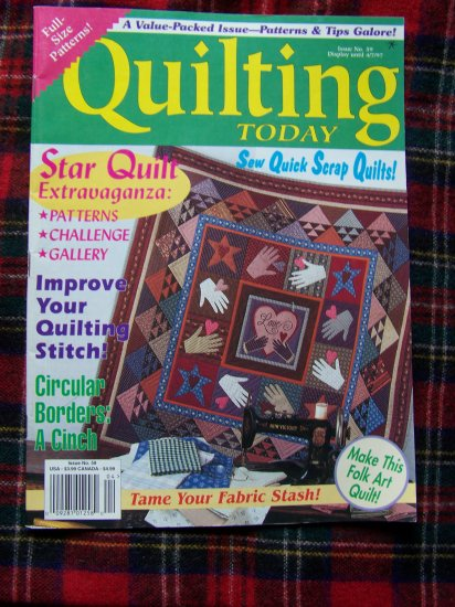 Quilting Today Back Issue Quilt Pattern Magazine # 59 April 1997 Patterns Book