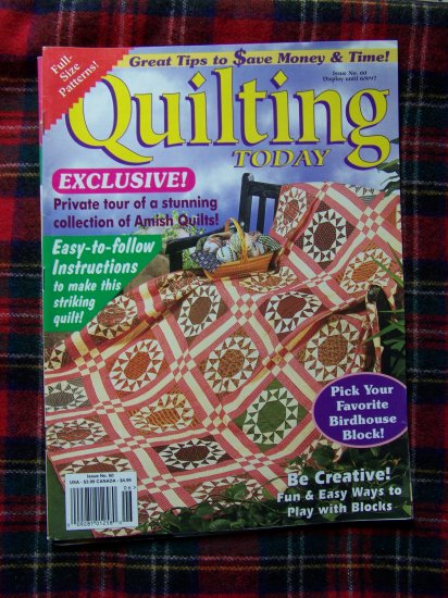 Quilting Today Quilt Pattern Magazine # 60 June 1997 Patterns Book
