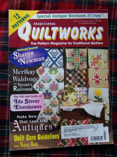 Traditional Quiltworks Quilting Pattern Magazine July 2000 Back Issue Patterns
