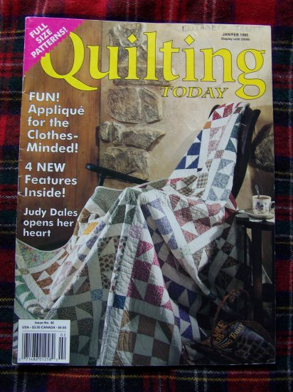 Quilting Today Back Issue Quilt Pattern Magazine # 46 Jan Feb 1995