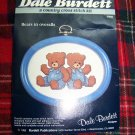 Vintage Dale Burdett Country Cross Stitch Pattern Bears In Overalls USA 1 Cent Ship