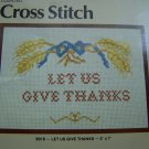 Vintage Dritz Cross Stitch Pattern Let US GIve Thanks USA 1 Cent S&H
