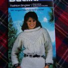 1 Cent USA S&H Vintage Bucilla Crochet Pattern Fringed Yoke Pullover Sweater