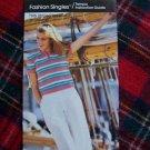 1 Cent S&H USA 80's Vintage Bucilla Crochet Pattern Striped T Shirt Top Short Sleeve 8 10 12
