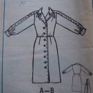 Vintage McCall's Dress Sewing Pattern 9389 Long Sleeve Button Up 10 12 14