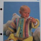 Vintage Pattern Infant Crocheted Quilted Jacket 9 12 Months USA 1 Cent S&H