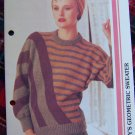 1980s Vintage Knitting Pattern Misses Funky Geometric Sweater USA 1 Cent S&H