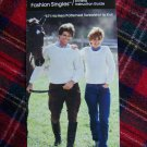 His and Hers Patterned Sweatshirt Vintage Knitting Pattern Misses Men's