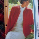 Misses Vintage Designer Jacket Knitting Pattern B 34 36 38 USA 1 Cent S&H
