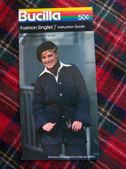 Misses Vintage Knitting Pattern Ribbed Jacket Sweater to Knit USA 1 Cent Specials