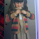 Girls Vintage KNitting Pattern Striped Cardigan Sweater 4 6 7 8 9 10 11 12