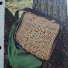 Vintage Purse Crocheting Pattern Twine Bag Leather SHoulder Strap 1 Cent USA S&H