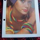 Vintage Glass Bead Beaded Jewelry Crochet Pattern Necklace Choker Armband Bracelet