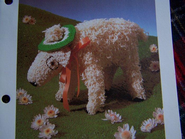 Vintage Stuffed Animal Crochet Pattern Seamus O' Sheep USA 1 Cent Shipping