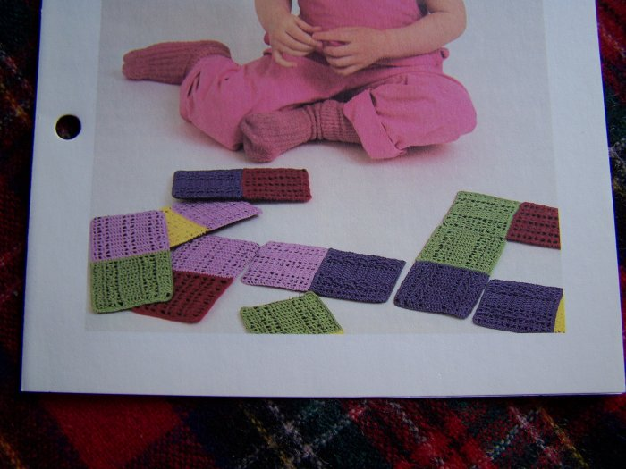 Crochet Pattern Dominoes Toy Set for Children Vintage USA 1 Cent S&H
